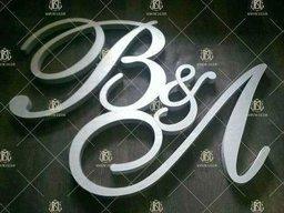 Ініціали, букви на весілля