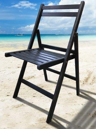 Крісла розкладні дерев'яні чорні