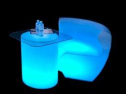 LED Стіл циліндр